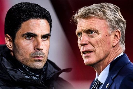 Arsenal v West Ham, Arteta, Moyes, West Ham vs Arsenal