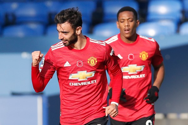 Bruno Fernandes, Everton vs United
