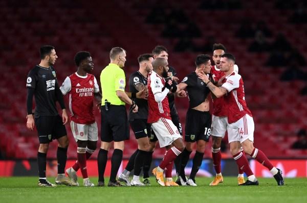 Arsenal vs Burnley, Granit Xhaka, Guendouzi