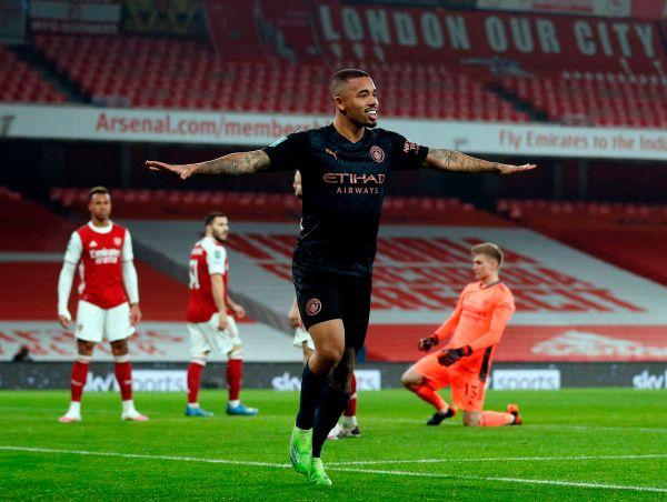 Arsenal vs Man CIty, Gabriel Jesus