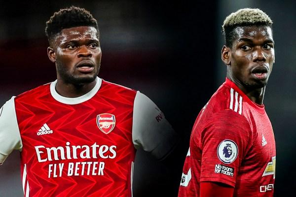 Arsenal v United, Partey, Pogba