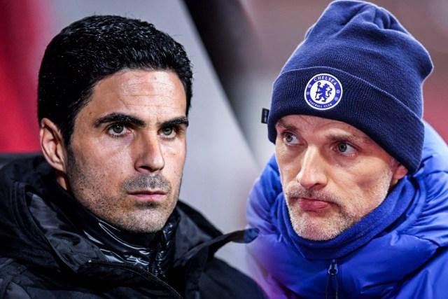 Mikel Arteta, Thomas Tuchel, Arsenal vs Chelsea