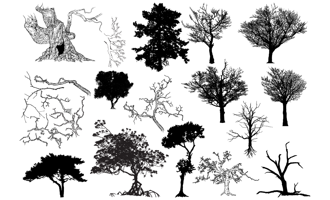 Tree Vector Shapes Pack