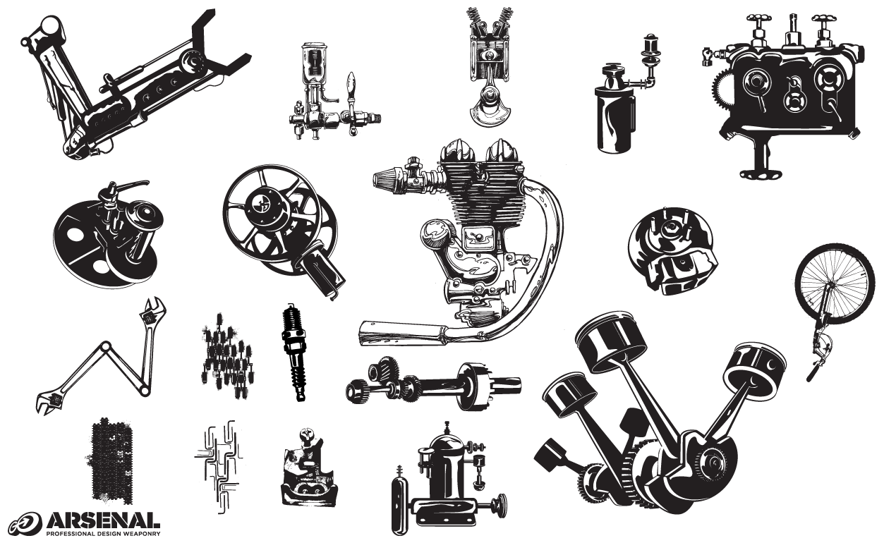 Machinery Vector Pack By Go Media S Arsenal