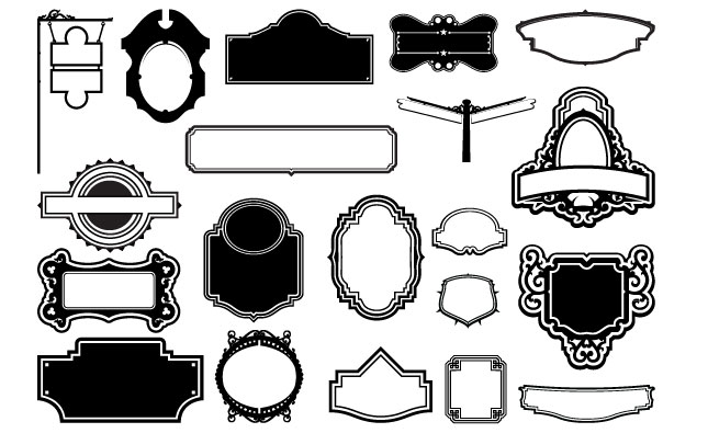 Frames And Signs Vector Pack