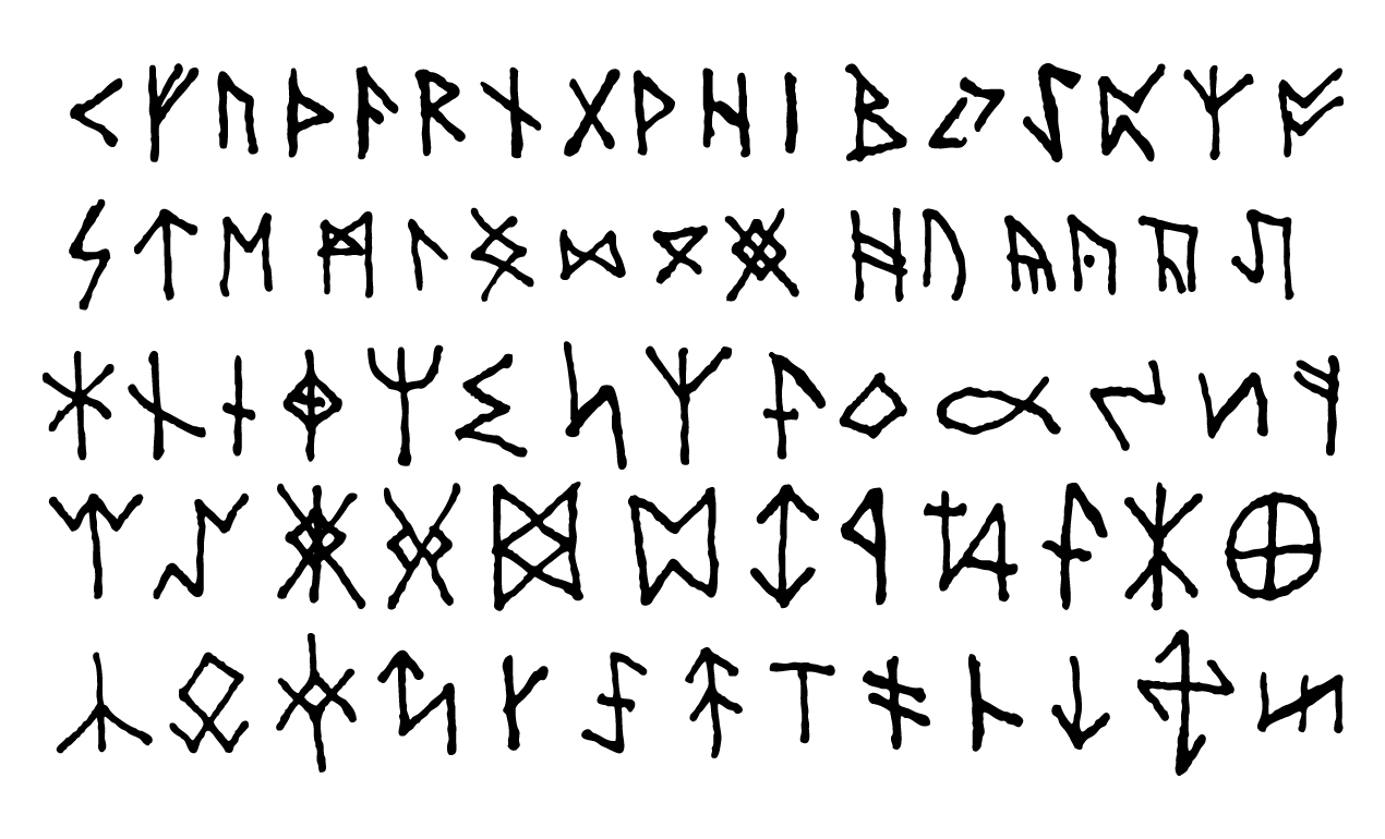 Demonic Writing Symbols