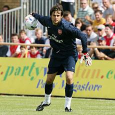Fabianski made his debut for Arsenal against Barnet