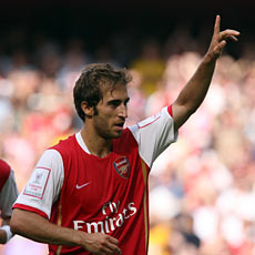 Flamini broke the deadlock just before half-time