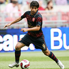 Eduardo da Silva is just one of several new faces at Arsenal this season