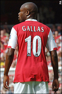 Gallas has apologised to his team