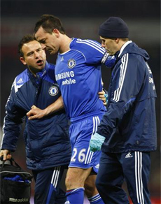 Terry's injury and a host of other absentees will make life difficult for Chelsea