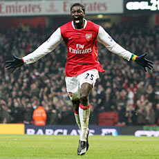 Adebayor is the player most likely to get Arsenal a goal