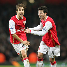 Fabregas may have been a bit lucky to make the side over Flamini