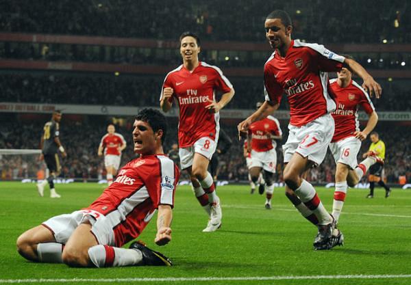Merida celebrates his superb goal