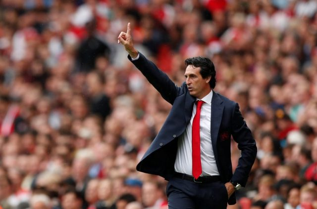 Arsenal first team manager Unai Emery