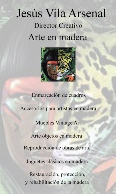 Presentación, servicios, madera, artesanía, restauración, tarjeta, arte, diseño