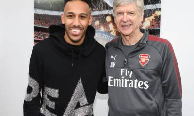 Arsene Wenger and Aubameyang