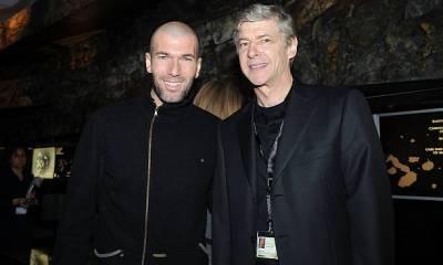 Zinedine Zidane and Arsene Wenger