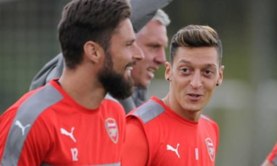 Mesut Ozil and Olivier Giroud