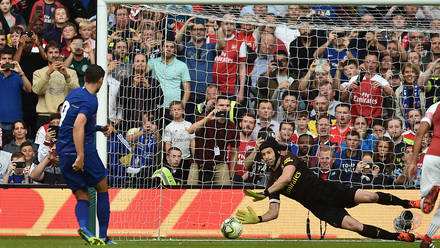 Petr Cech saving penalty