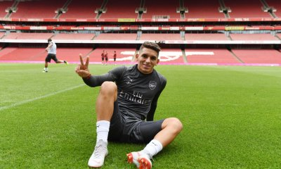 Lucas Torreira at the Emirates Stadium