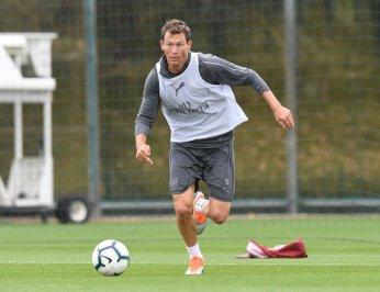Stephan Lichtsteiner in Arsenal training