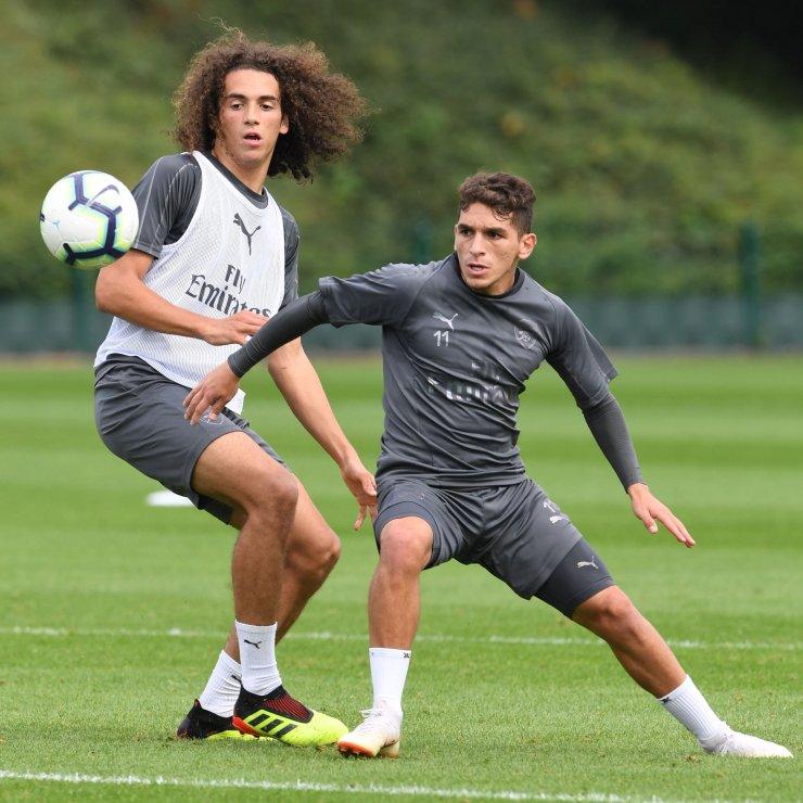 Guendouzi and Torreira in training