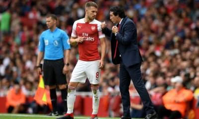 Unai Emery and Aaron Ramsey