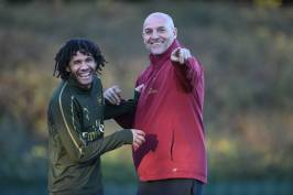 ST ALBANS, ENGLAND - NOVEMBER 02: of Arsenal during a training session at London Colney on November 2, 2018 in St Albans, England. (Photo by Stuart MacFarlane/Arsenal FC via Getty Images)