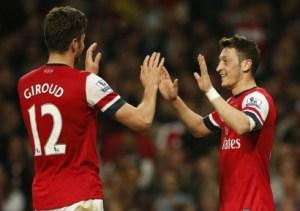 Olivier and Mesut both score against Geordie's