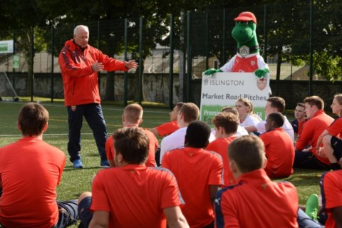 Liam Brady hopes refurbishment of Market Road football pitches will inspire local youngsters