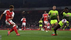 Ox double fires Arsenal into EFL Cup last 8