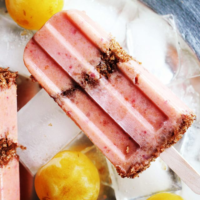 Peach and Plum Parfait Pops