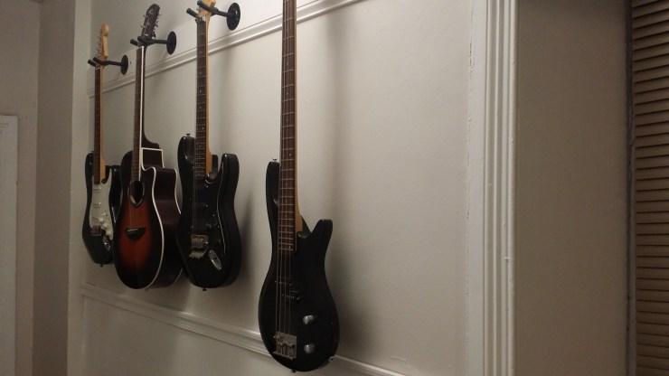Fixer Upper Friday---Hallway Guitar Gallery Wall