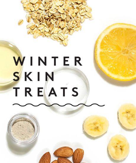 DIY Winter Skin Treats---Peach Banana Face Mask and Super Simple Almond Toner