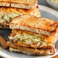 Try This--- Reuben Inspired Vegetarian Sauerkraut Sandwich