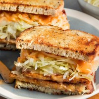 Try This--- Reuben Inspired Vegetarian Sauerkraut Sandwich
