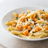 Try This--- Penne With Butternut Squash and Goat Cheese
