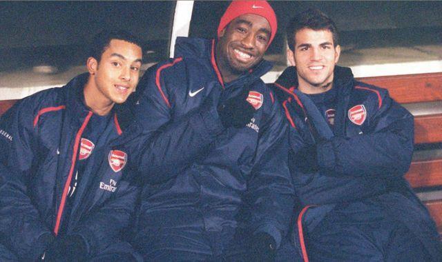 Walcott Djourou and Fabregas at Arsenal