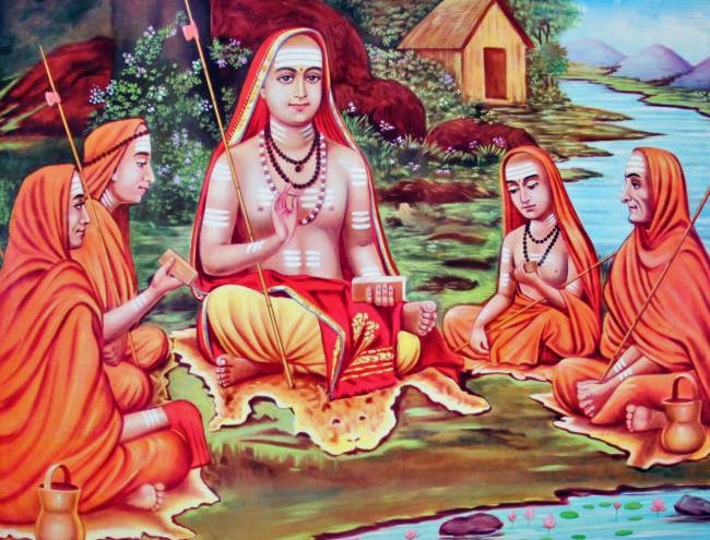 shankaracharya with students image