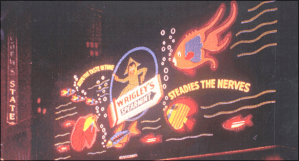 This Wrigley's gum sign in Times Square (alas, it wasn't there for long) is my mom's favorite spectacular.