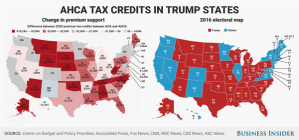 According to the analysis, people in counties that voted for Trump would see $6.6 billion in annual tax cuts, while people living in counties that supported Democratic nominee Hillary Clinton would get a tax break of $21.9 billion.