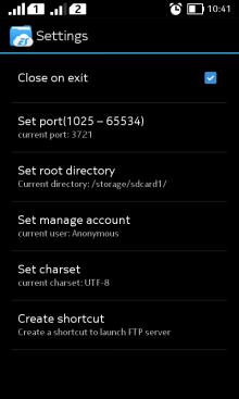 setting app