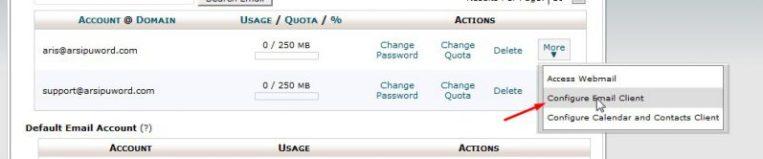 Configure email client