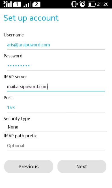 setting IMAP