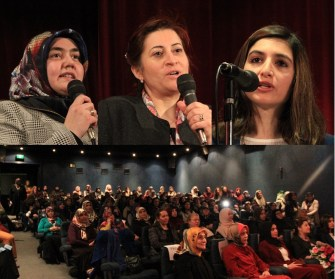 """BDV Kadınlar Günü etkinliğinde konuşan Avukat Sevda Karşıkaya :""""Oturumunuzu alana kadar şiddete maruz kalmak zorunda değilsiniz"""""""