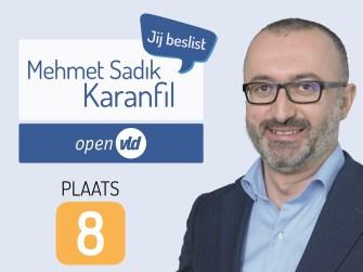 Gent Belediyesi   meclis üyesi  ve Open VLD  8. Sıra adayı Mehmet Sadık Karanfil:Eğitim, iş ve istihdam alanlarındaki çalışmalarıma devam etmek istiyorum