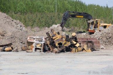 Ajoneuvoromuja Lempäälän laidalta.