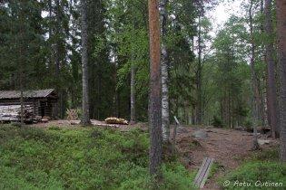 Tämän paikan muistan hyvin. Iso-Ruokejärvi oli viime kerralla telttapaikkamme.