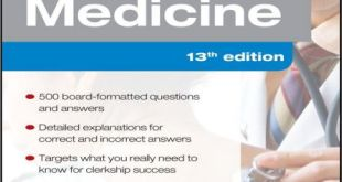Medicine PreTest Self-Assessment and Review 13th Edition PDF